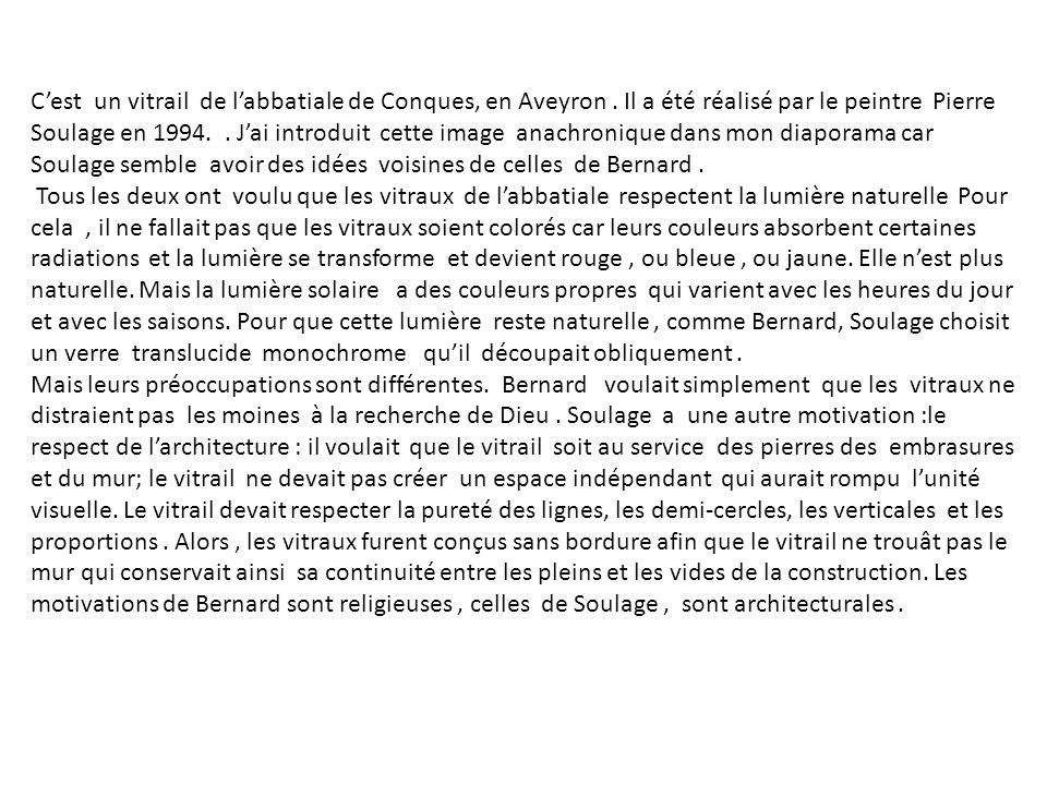 C'est un vitrail de l'abbatiale de Conques, en Aveyron