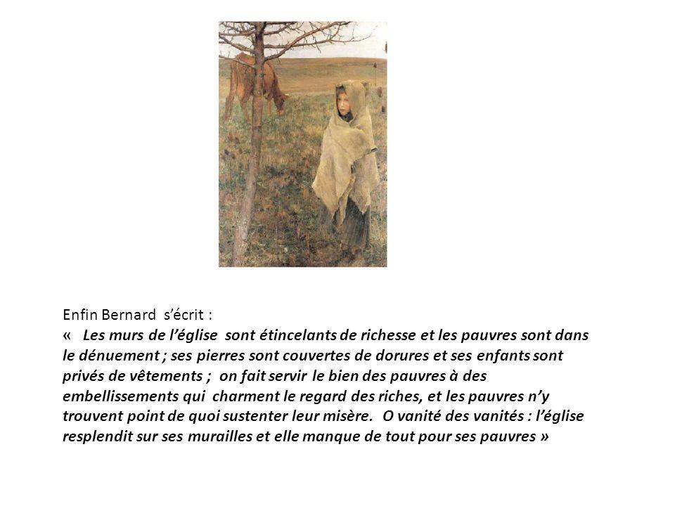Enfin Bernard s'écrit :