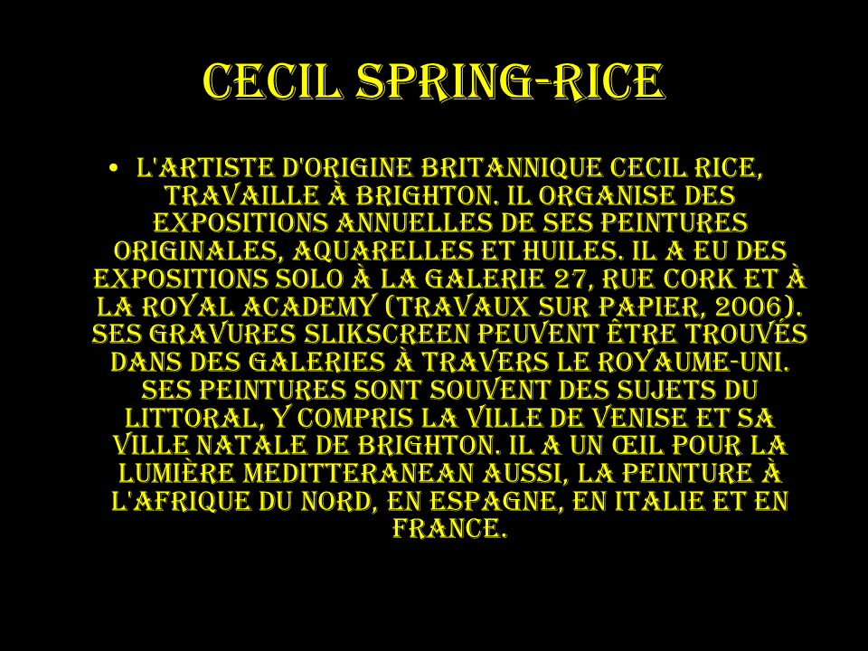 Cecil Spring-Rice