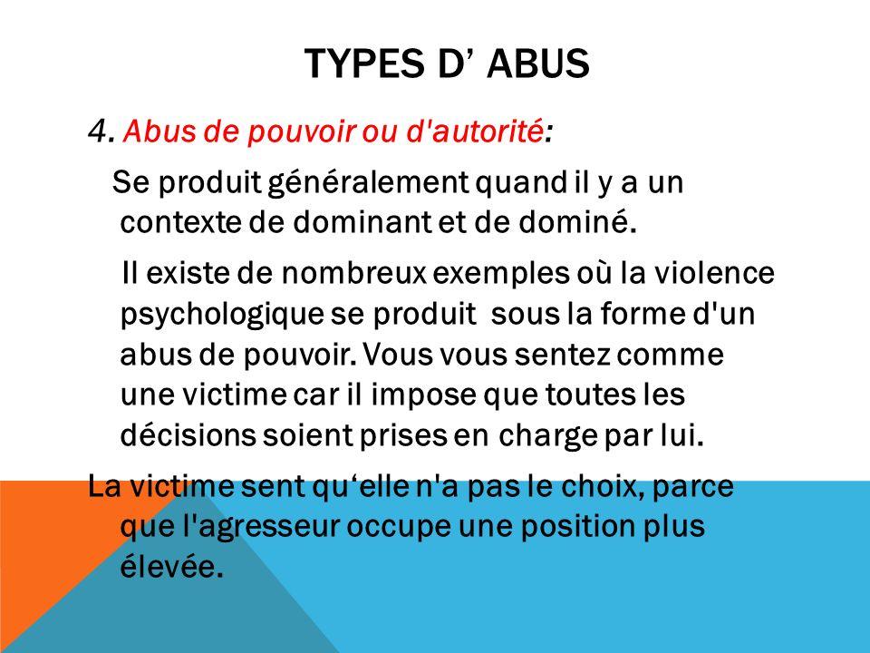 Types d' Abus