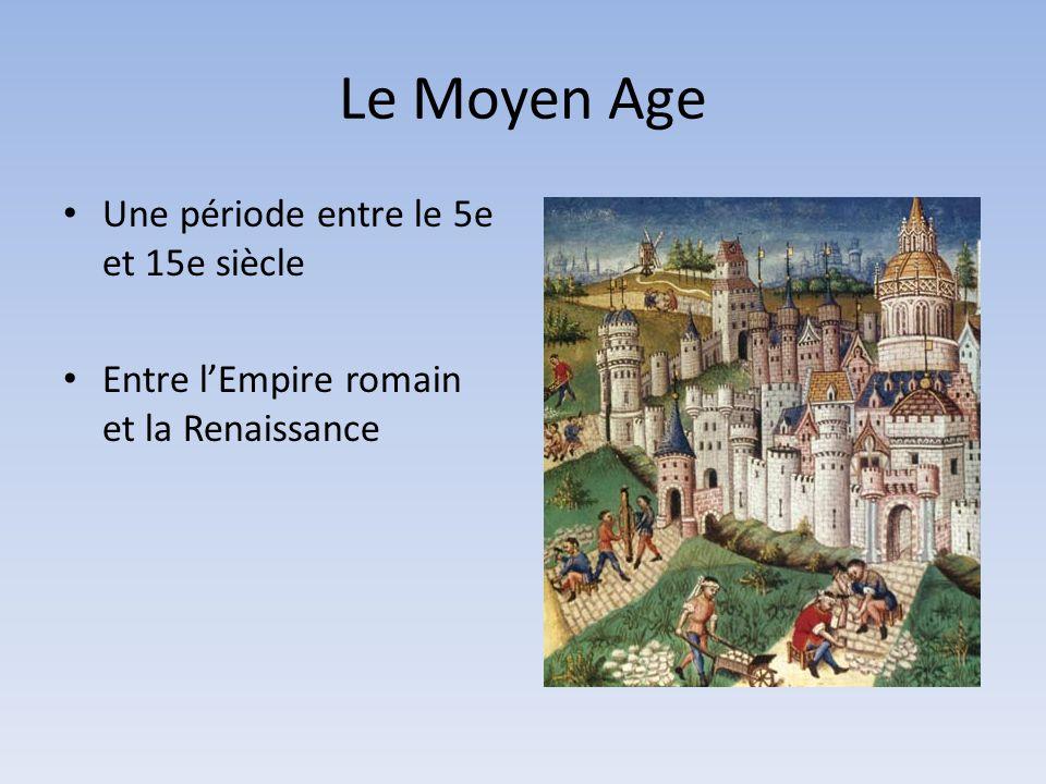 Le Moyen Age Une période entre le 5e et 15e siècle