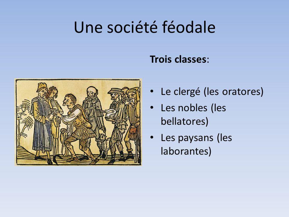 Une société féodale Trois classes: Le clergé (les oratores)