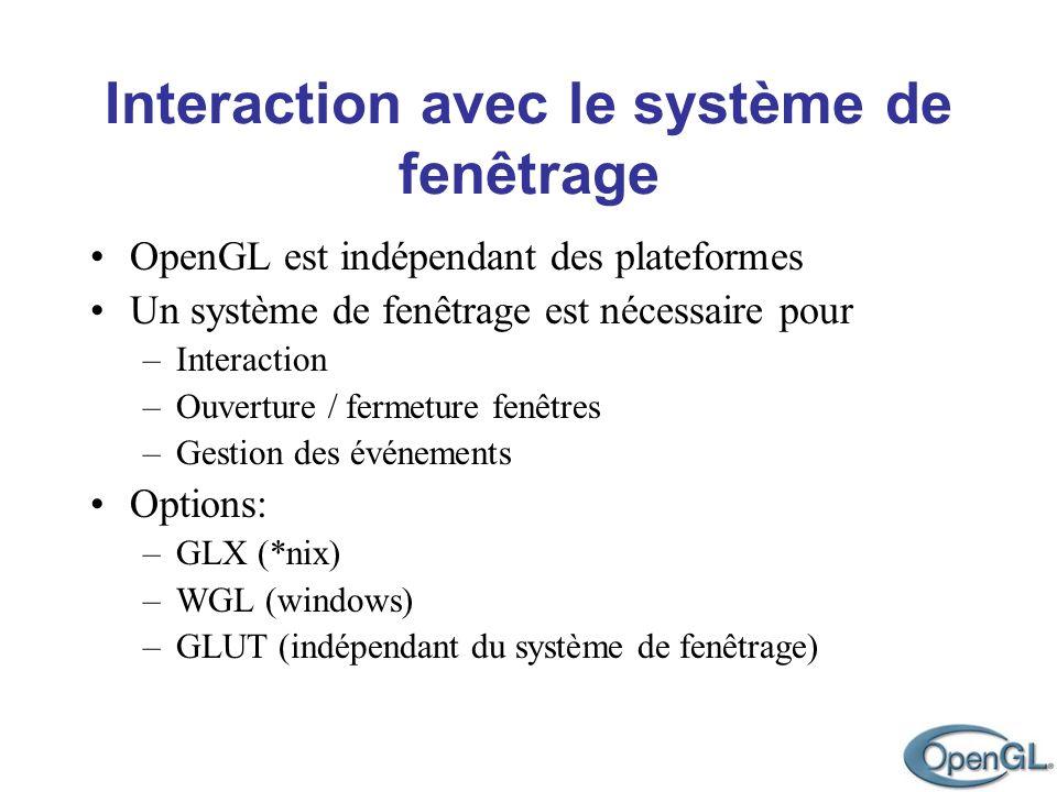 OpenGL est indépendant des plateformes