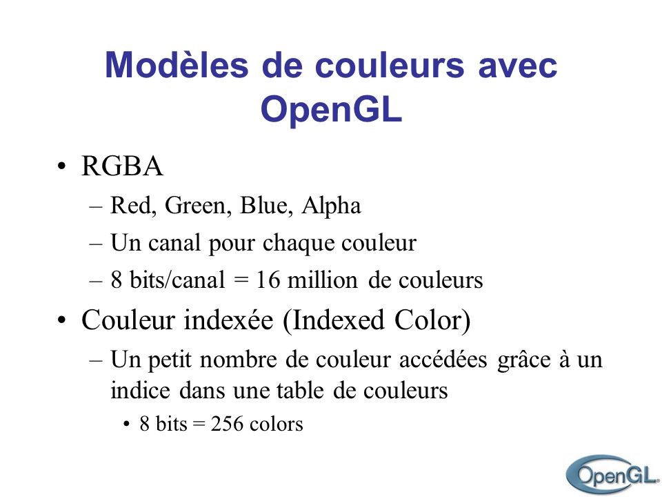 Couleur indexée (Indexed Color)