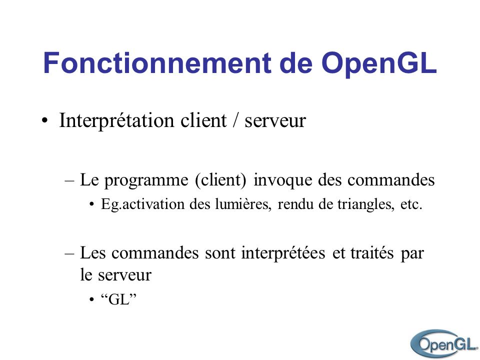 Interprétation client / serveur