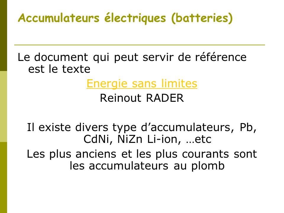 Accumulateurs électriques (batteries)