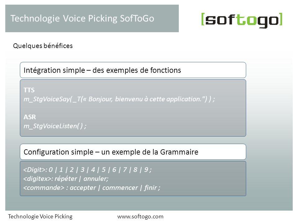 Technologie Voice Picking SofToGo