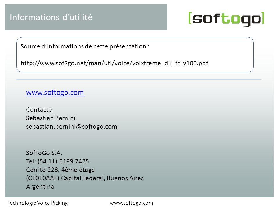 Informations d'utilité