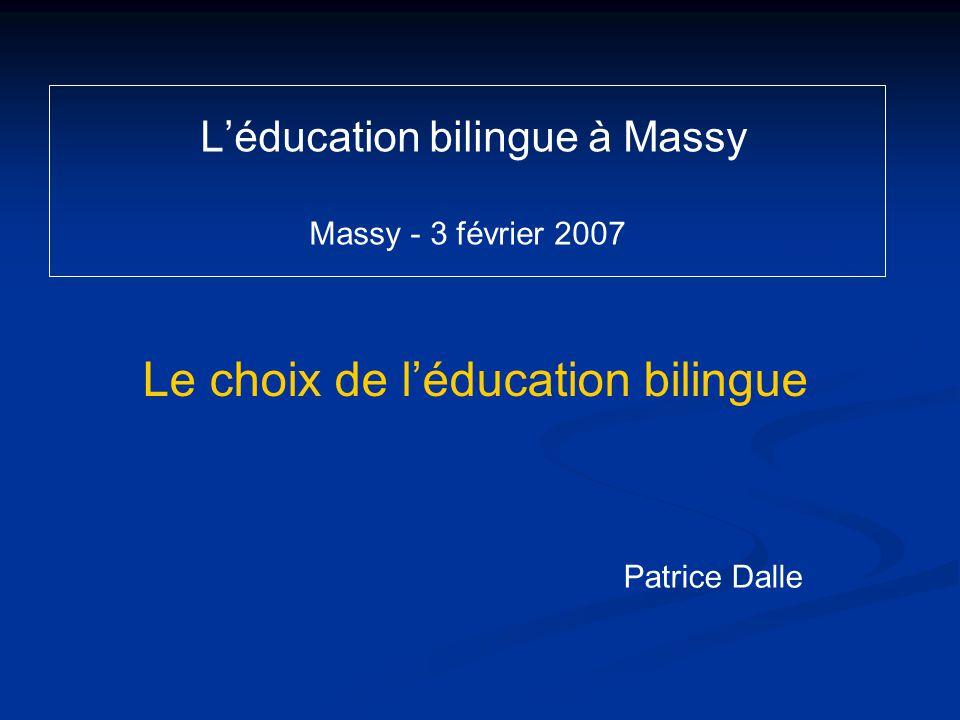L'éducation bilingue à Massy Massy - 3 février 2007