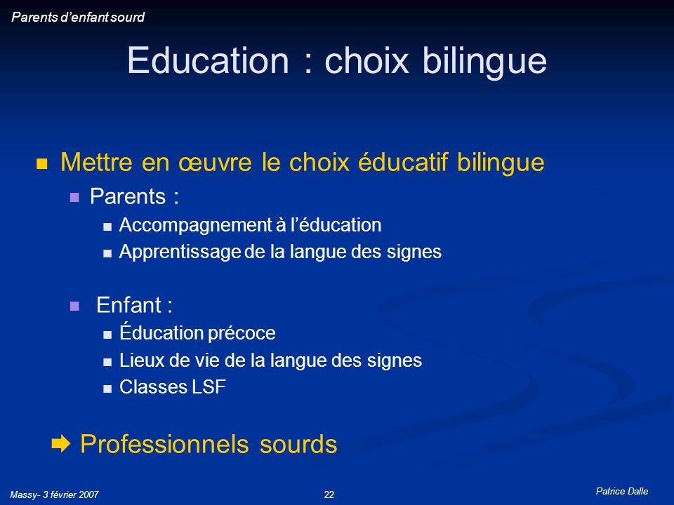Education : choix bilingue
