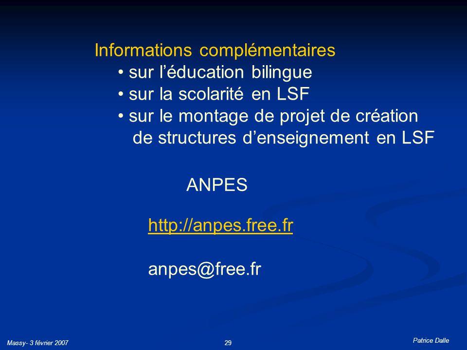 Informations complémentaires sur l'éducation bilingue