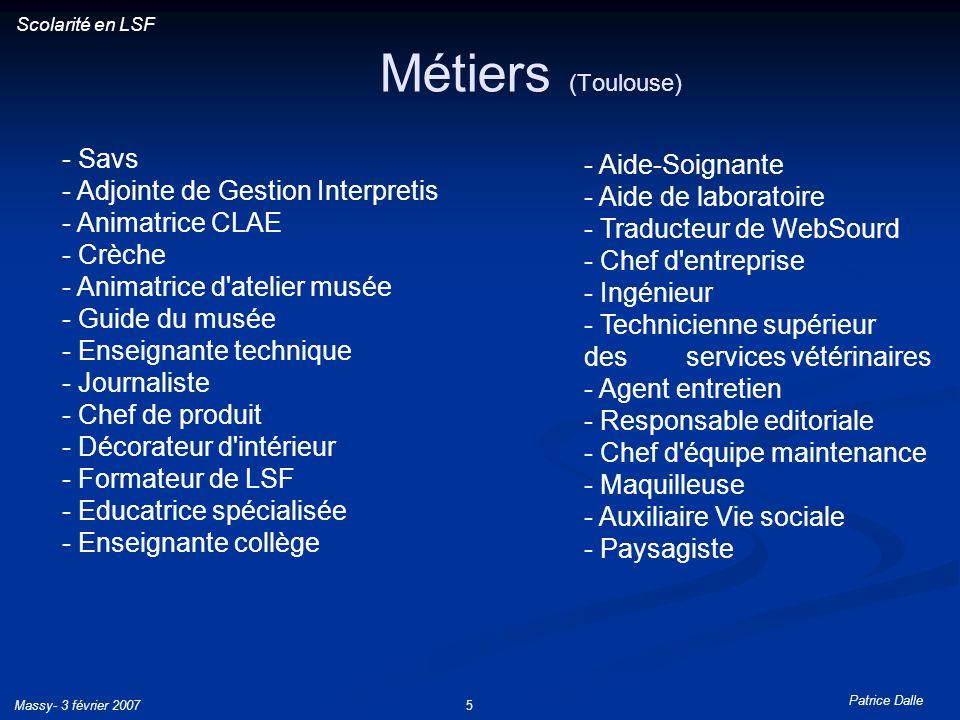 Métiers (Toulouse) - Savs - Aide-Soignante