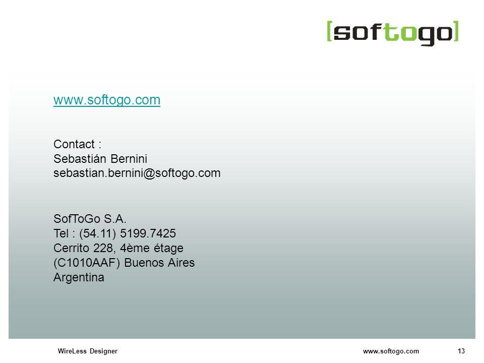 www.softogo.com Contact : Sebastián Bernini