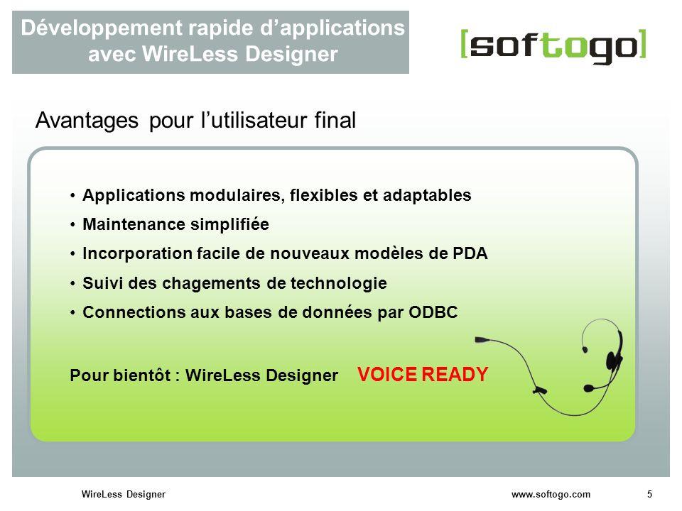 Développement rapide d'applications avec WireLess Designer