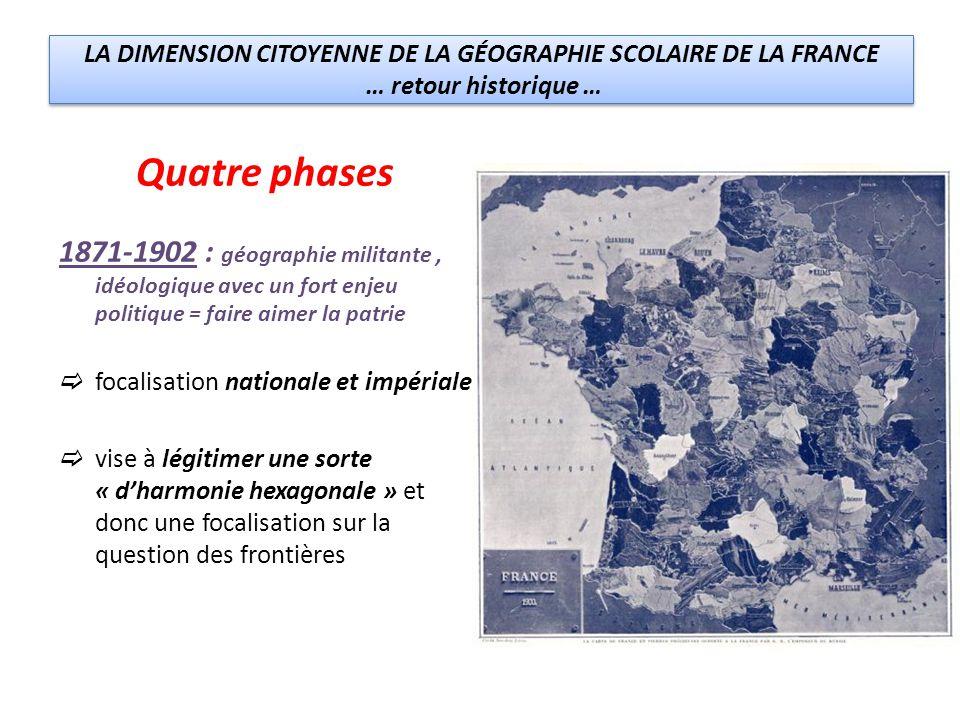 LA DIMENSION CITOYENNE DE LA GÉOGRAPHIE SCOLAIRE DE LA FRANCE