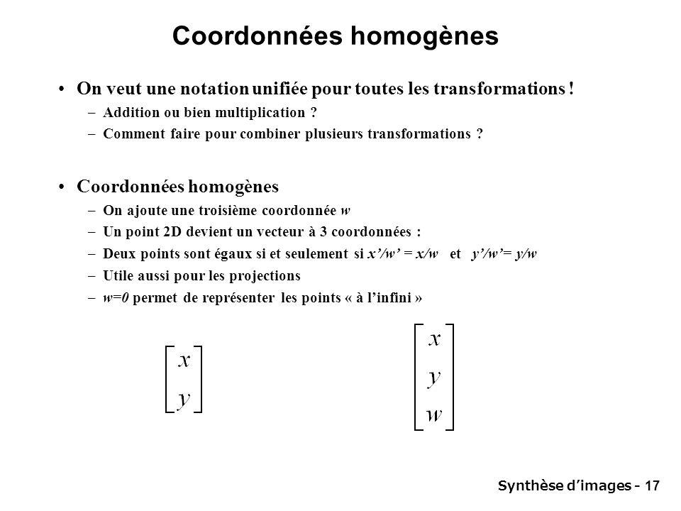 Coordonnées homogènes
