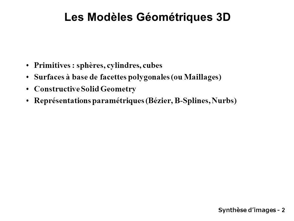 Les Modèles Géométriques 3D