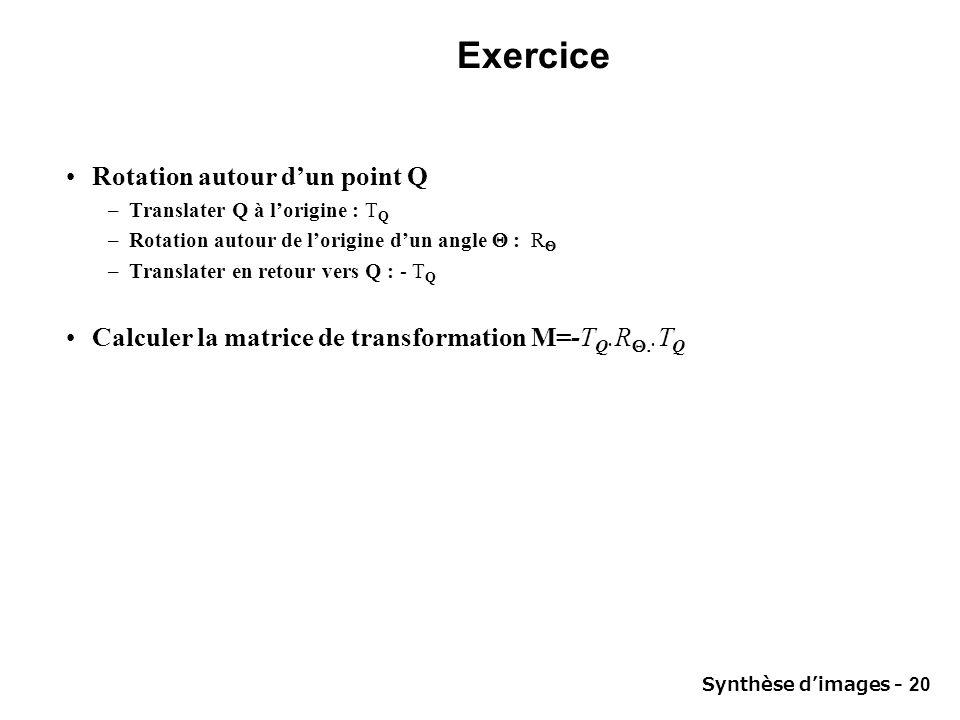 Exercice Rotation autour d'un point Q