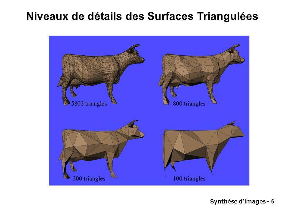 Niveaux de détails des Surfaces Triangulées