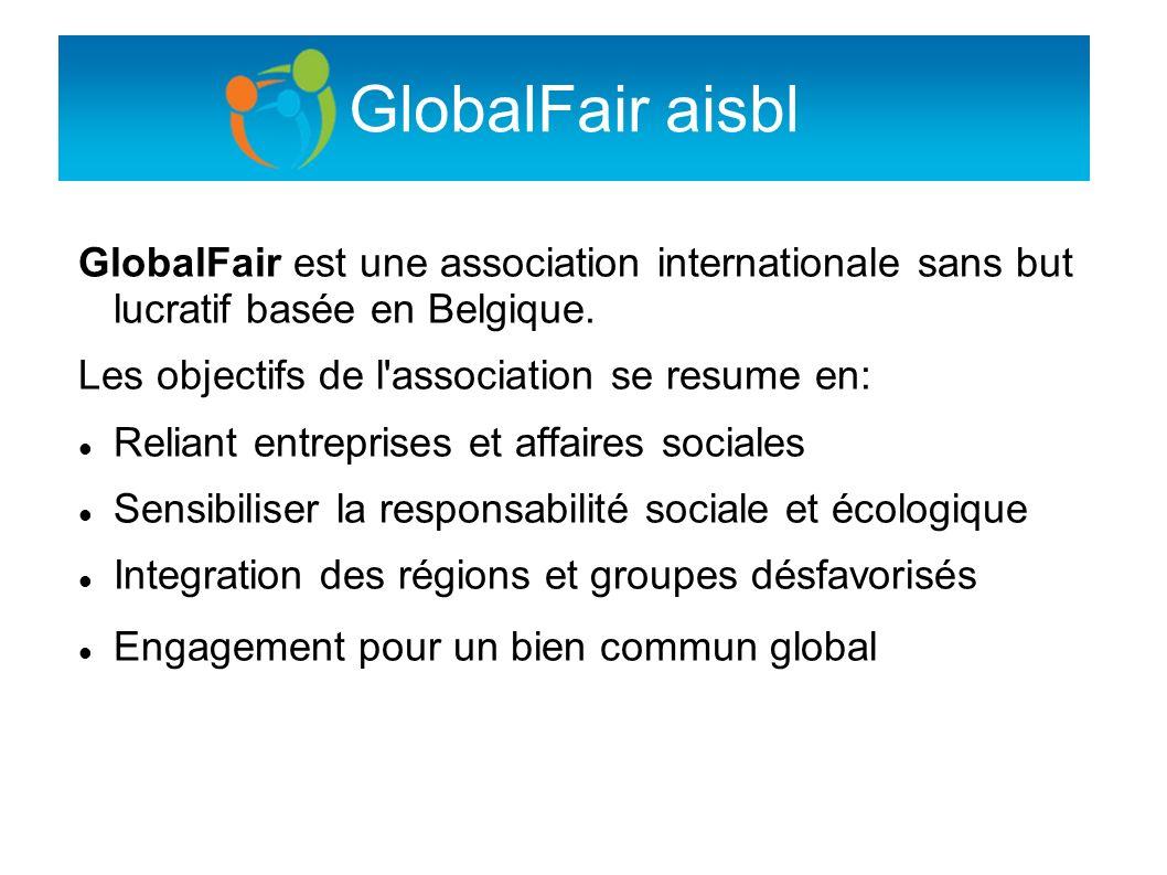 GlobalFair aisblGlobalFair est une association internationale sans but lucratif basée en Belgique.