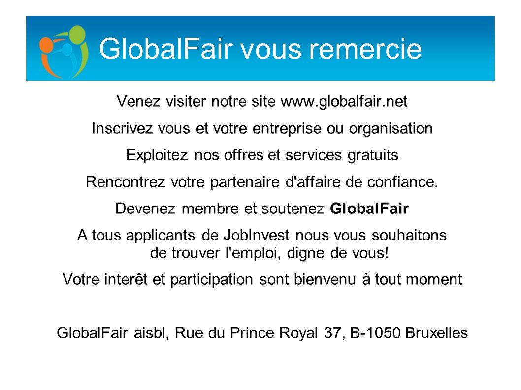 GlobalFair vous remercie