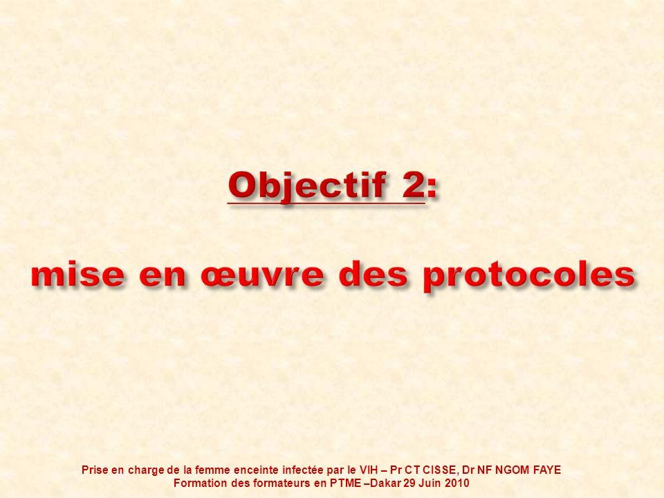 Objectif 2: mise en œuvre des protocoles