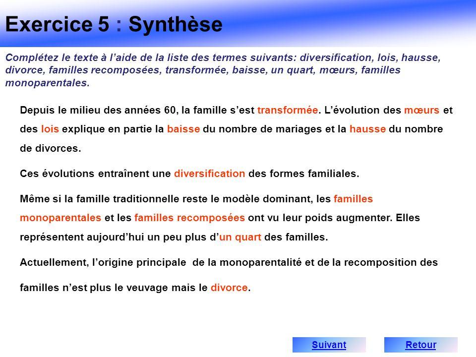 Exercice 5 : Synthèse