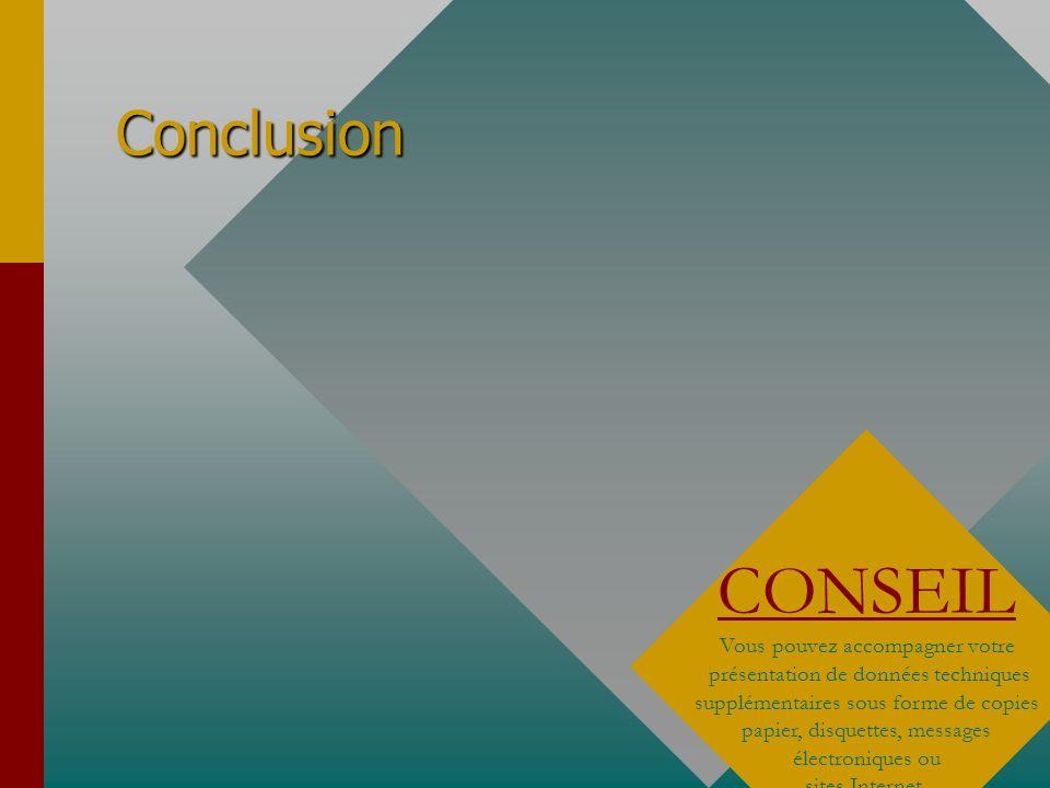 Conclusion CONSEIL.