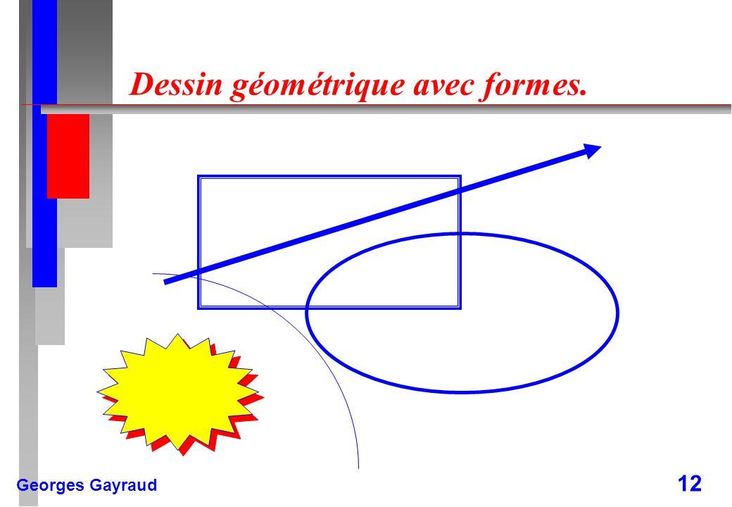 Dessin géométrique avec formes.