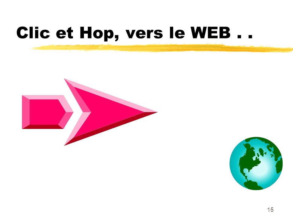Clic et Hop, vers le WEB . .