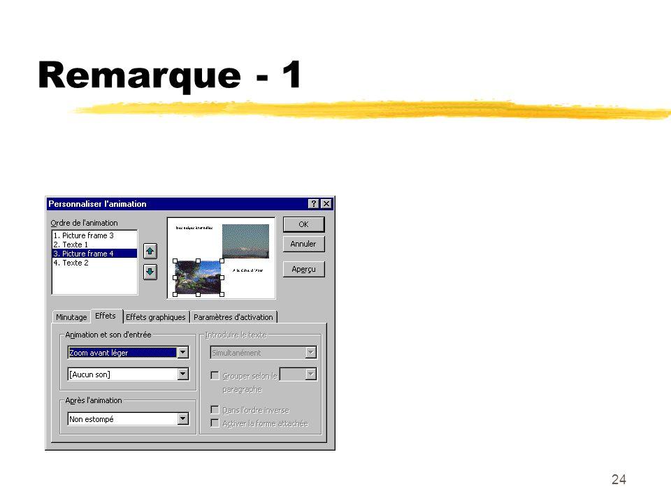 Remarque - 1