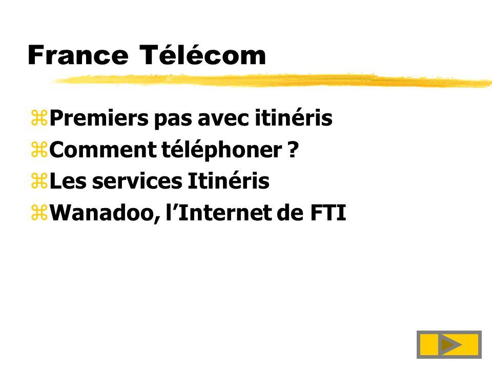France Télécom Premiers pas avec itinéris Comment téléphoner