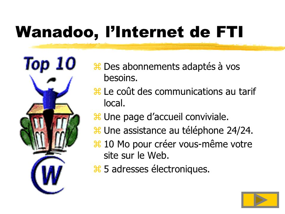 Wanadoo, l'Internet de FTI