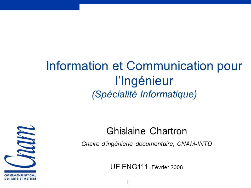 Information et Communication pour l'Ingénieur