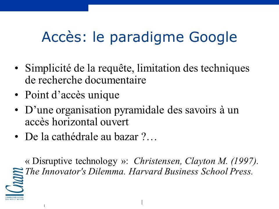 Accès: le paradigme Google