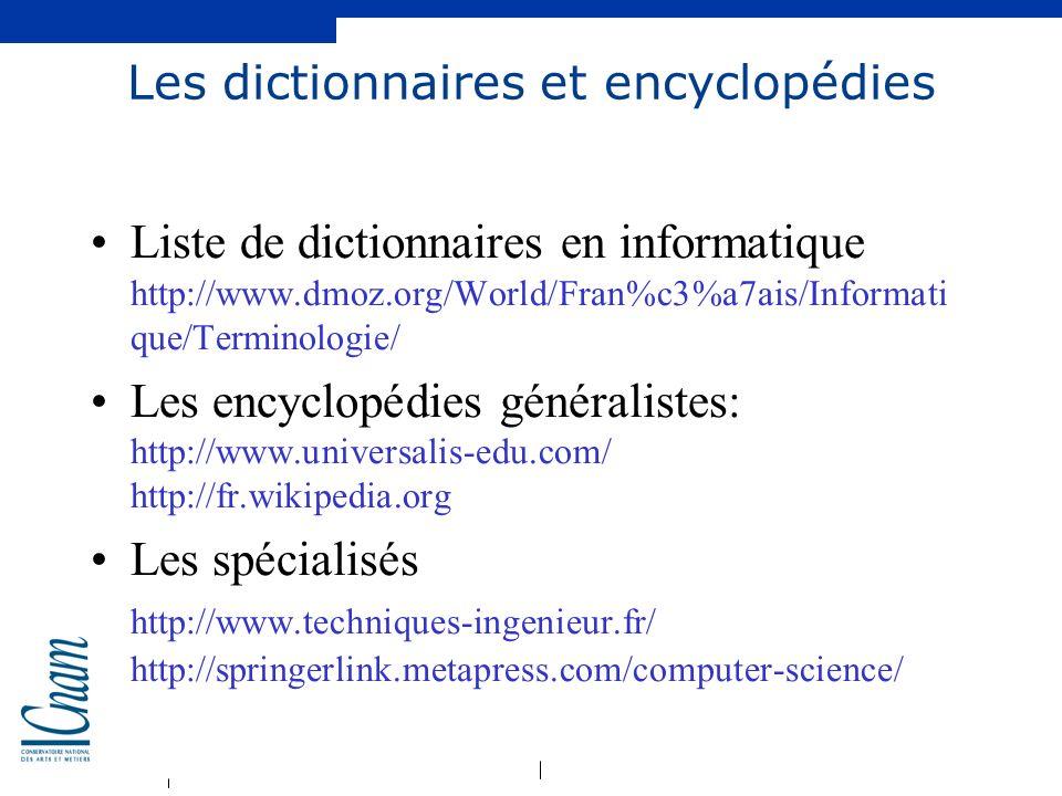 Les dictionnaires et encyclopédies