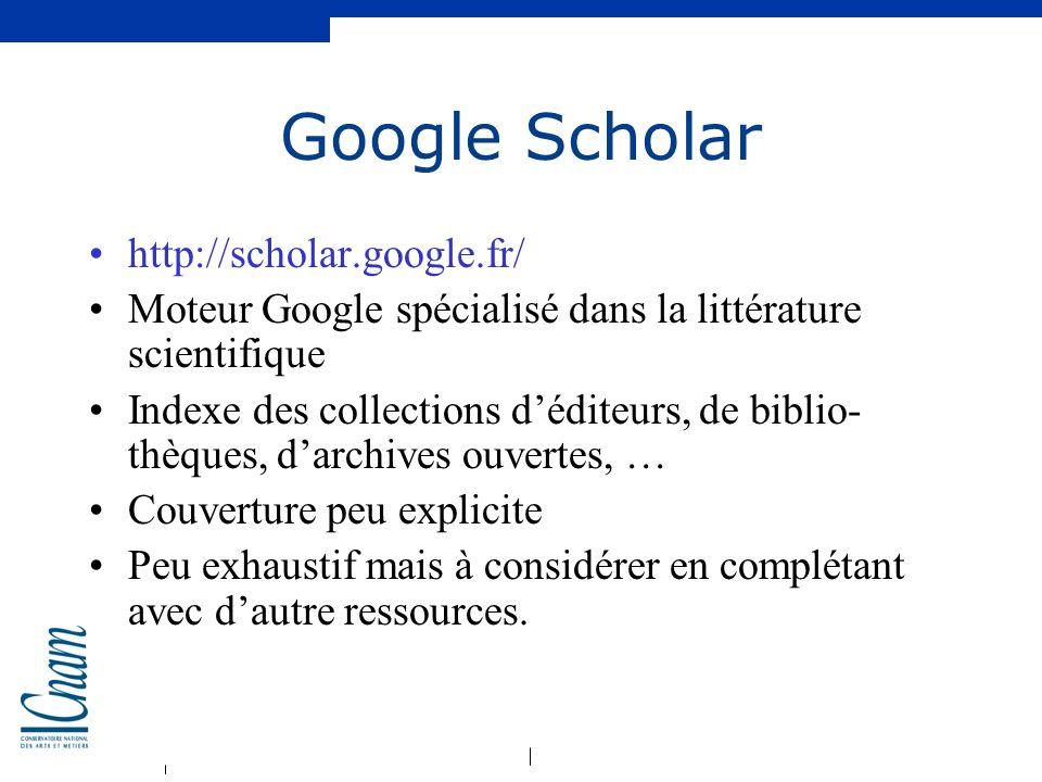 Google Scholar http://scholar.google.fr/
