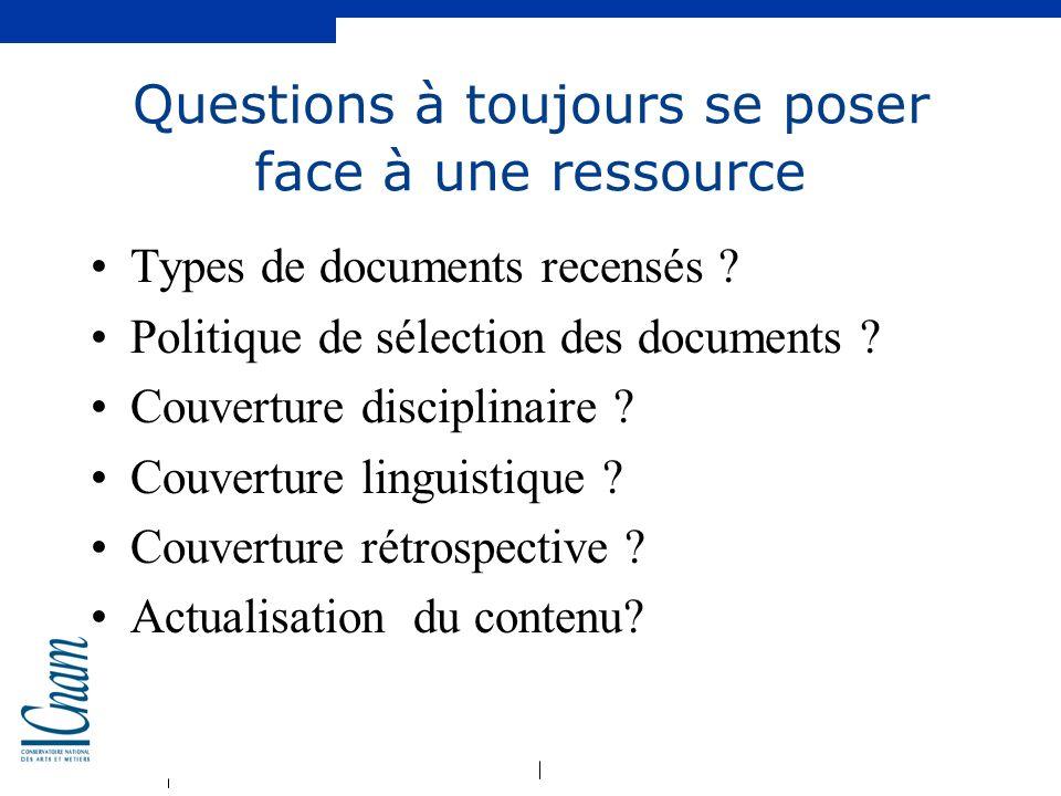 Questions à toujours se poser face à une ressource
