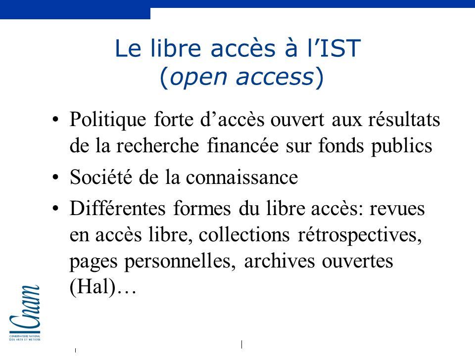 Le libre accès à l'IST (open access)