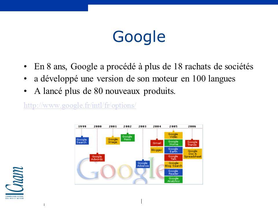 Google En 8 ans, Google a procédé à plus de 18 rachats de sociétés