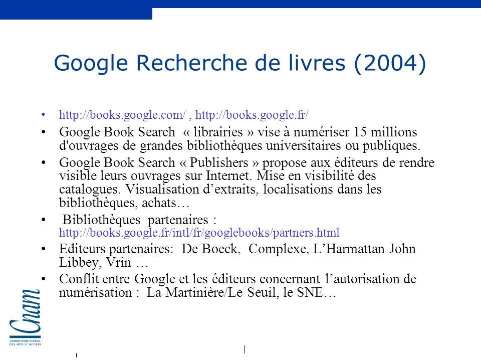 Google Recherche de livres (2004)