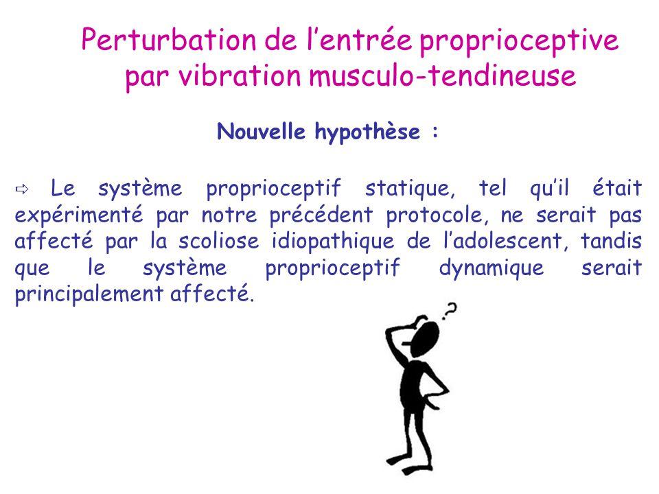 Perturbation de l'entrée proprioceptive