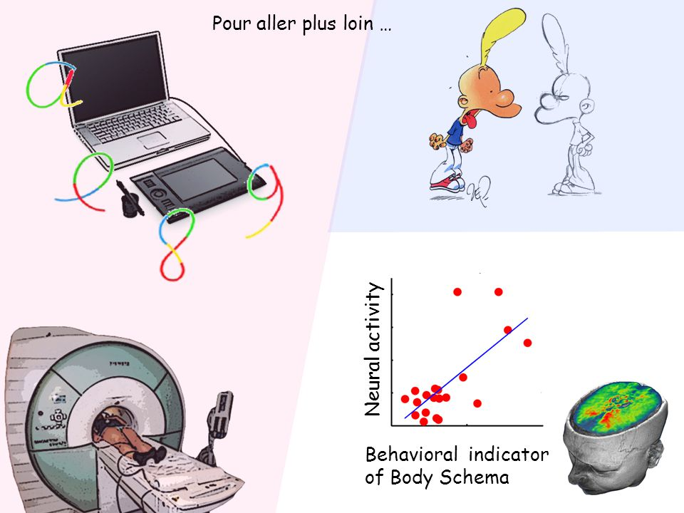 Pour aller plus loin … Neural activity Behavioral indicator of Body Schema