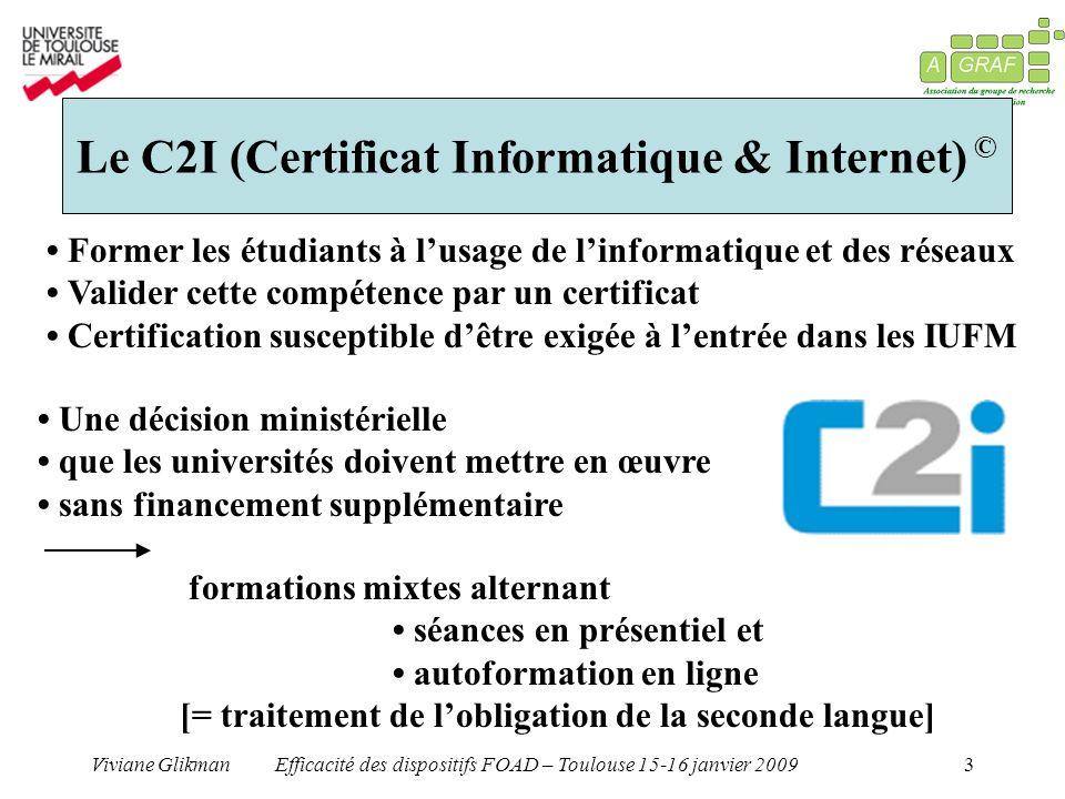Le C2I (Certificat Informatique & Internet) ©