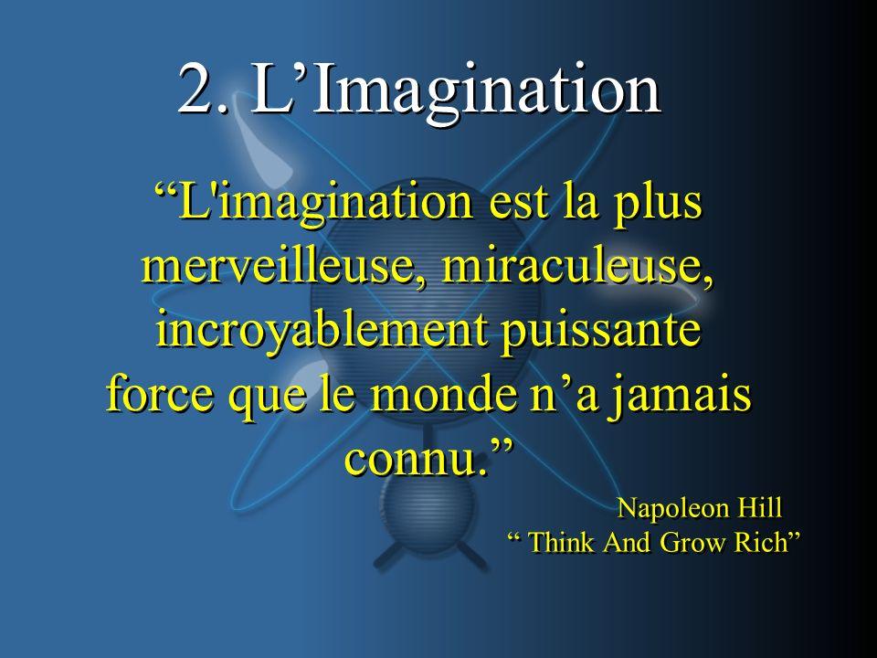 2. L'Imagination L imagination est la plus merveilleuse, miraculeuse, incroyablement puissante force que le monde n'a jamais connu.