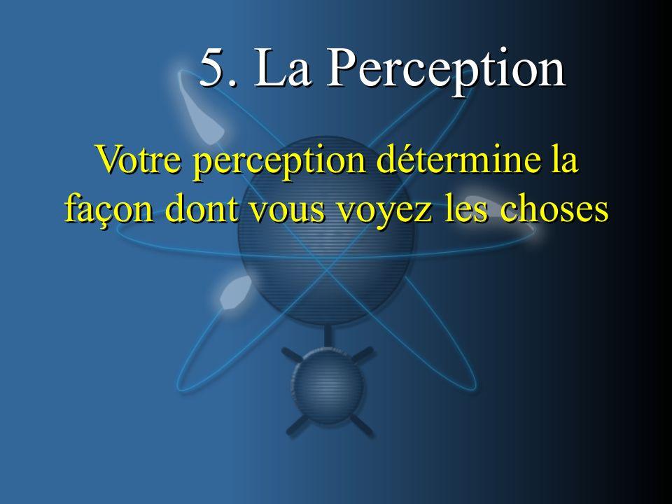 Votre perception détermine la façon dont vous voyez les choses