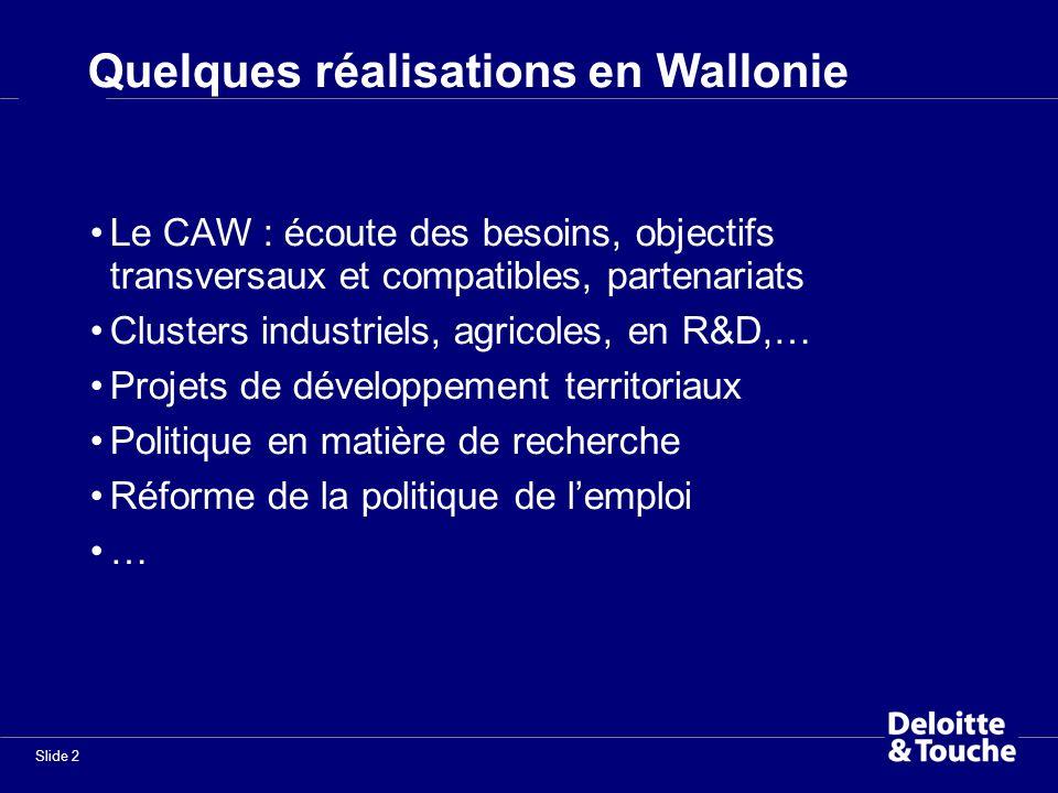 Quelques réalisations en Wallonie