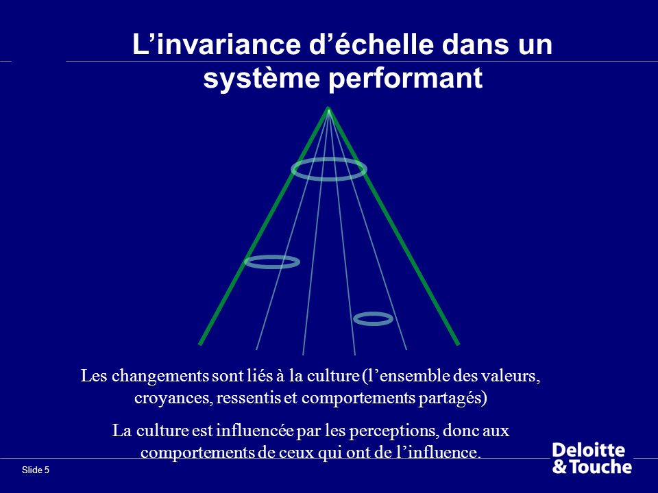 L'invariance d'échelle dans un système performant