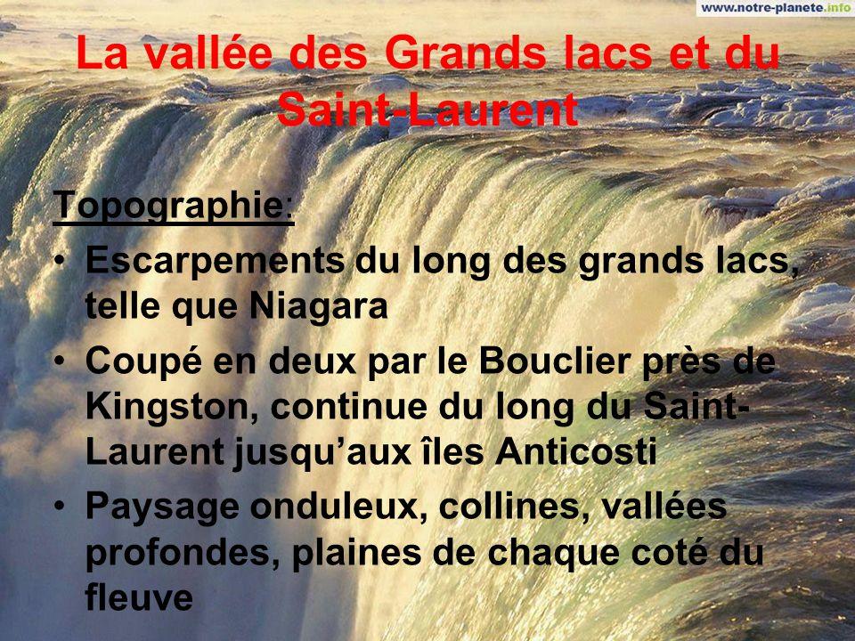 La vallée des Grands lacs et du Saint-Laurent
