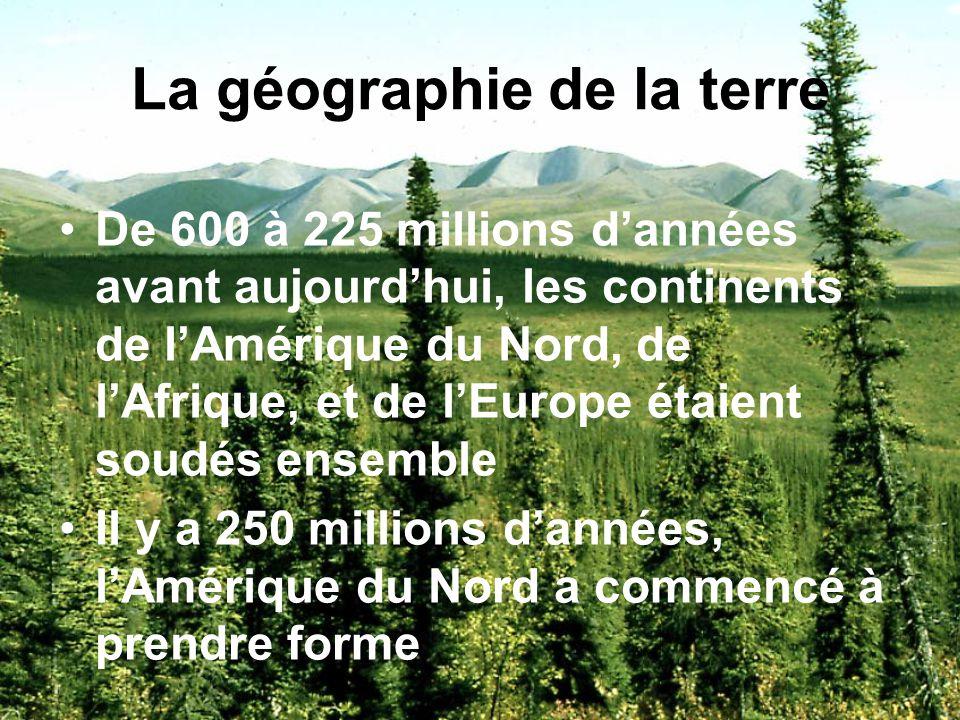 La géographie de la terre